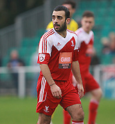 Whitehawk midfielder Sam Deering during the The FA Cup match between Whitehawk FC and Lincoln City at the Enclosed Ground, Whitehawk, United Kingdom on 8 November 2015. Photo by Bennett Dean.