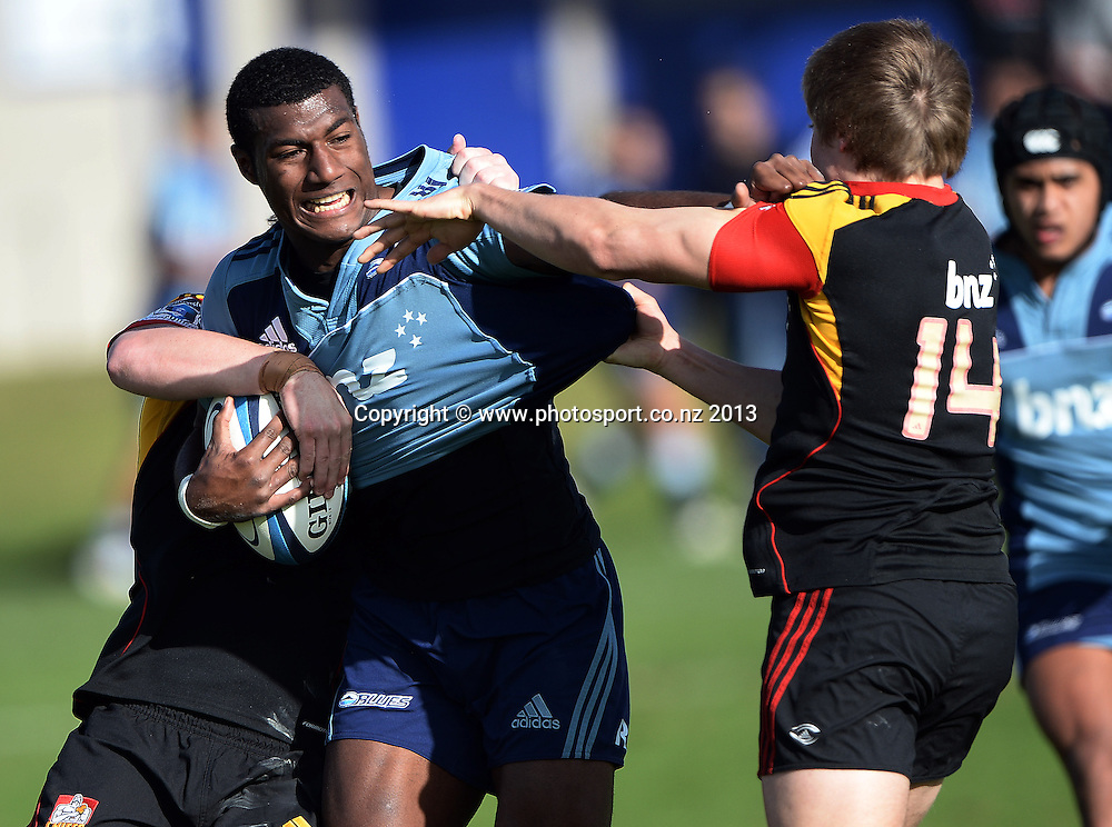 St Kentigern winger Suliasi Vunivalu. Blues U18 Schools v Chiefs U18 Schools. St Kentigern College, Auckland, New Zealand on Tuesday 23 July 2013. Photo: Andrew Cornaga/Photosport.co.nz