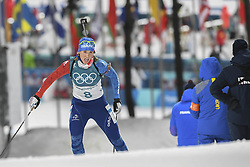 February 11, 2018 - Pyeongchang, GANGWON, SOUTH KOREA - Feb 10, 2018-Pyeongchang, South Korea-Anais BESCOND of France action on the snow during an Olympic Biathlon Women Sprint 7.5Km at Biathlon Center in Pyeongchang, South Korea. (Credit Image: © Gmc via ZUMA Wire)