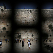 The Western Wall in the Old City of Jerusalem on Thursday, June 19, 2014 in Israel. (Brian Cassella/Chicago Tribune)  B583846463Z.1<br /> ....OUTSIDE TRIBUNE CO.- NO MAGS,  NO SALES, NO INTERNET, NO TV, CHICAGO OUT, NO DIGITAL MANIPULATION...