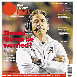 USA TODAY SPORTS WEEKLY 2014 Cover - Nick Saban - Alabama