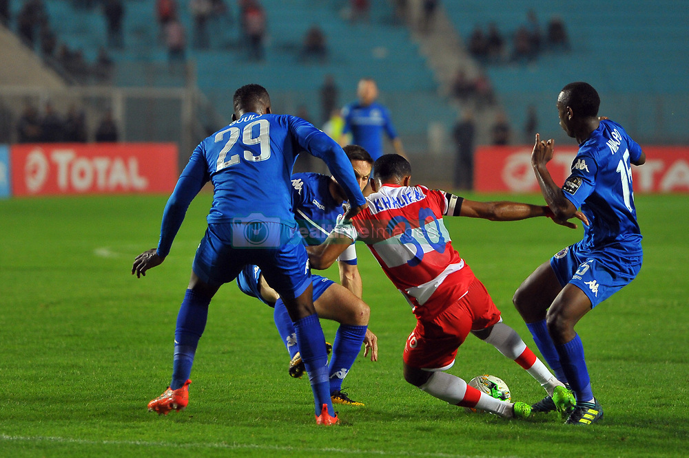 October 22, 2017 - Rades, Tunisia - Saber Khalifa (30)of CA  in action during the Semi-final return of the CAF Cup between Club Africain (CA) and Supersport United FC of South Africa at the stadium of Rades  in Tunis..Club Africain lost (1-3) against the South African Super Sport Utd who will face TP Mazembe in the final. (Credit Image: © Chokri Mahjoub via ZUMA Wire)