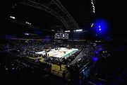 NIKON D5 • AF-S Zoom-Nikkor 14-24mm f/2.8G ED<br /> f/4 • ISO 2000 • 1/500<br /> <br /> Panoramica Palazzetto, Arena, Tifosi, Coreografia<br /> Umana Reyer Venezia - Happy Casa Brindisi<br /> LBA Final Eight 2020 Zurich Connect - Finale<br /> Basket Serie A LBA 2019/2020<br /> Pesaro, Italia - 16 February 2020<br /> Foto Mattia Ozbot / CiamilloCastoria