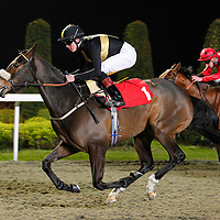 Taglietelle and Thomas Brown winning the 7.15 race