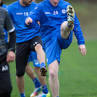 St Johnstone Training...07.11.14<br /> Brian Easton pictured during training at McDiarmid Park this morning ahead of tomorrow's game at Dundee<br /> Picture by Graeme Hart.<br /> Copyright Perthshire Picture Agency<br /> Tel: 01738 623350  Mobile: 07990 594431