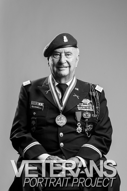 Heary Boswell<br /> Army<br /> O-4<br /> Commo Sergeant<br /> 82d Airborne<br /> 4 Combat Jumps: Sicily, Italy, Normandy, Holland <br /> French Legion of Honor Recipient <br /> June 1940 - June 1945<br /> 1946 - 1963<br /> WWII, Korea<br /> <br /> Veterans Portrait Project<br /> Colorado Springs, CO