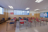 Architectural interior image of IDEA Charter School classroom by Jeffrey Sauers of Commercial Photographics