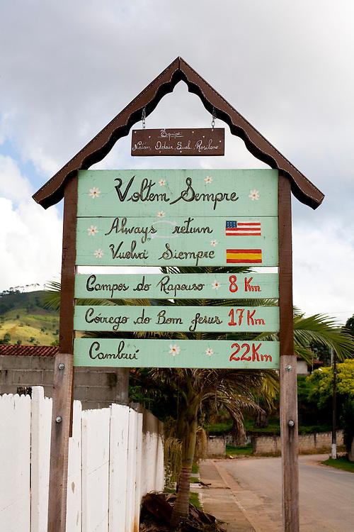 Corrego do Bom Jesus_MG, Brasil...Detalhe de uma placa em Corrego do Bom Jesus...A sign detail in Corrego do Bom Jesus...Foto: LEO DRUMOND / NITRO.....