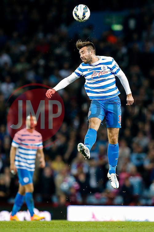 Michael Doughty of QPR heads the ball - Photo mandatory by-line: Rogan Thomson/JMP - 07966 386802 - 07/04/2015 - SPORT - FOOTBALL - Birmingham, England - Villa Park - Aston Villa v Queens Park Rangers - Barclays Premier League.