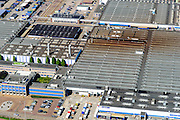Nederland, Noord-Brabant, Eindhoven, 23-08-2016; DAF Truckfabriek, producent van bedrijfswagens, onderdeel van Paccar.<br /> DAF Truck Factory, manufacturer of trucks, a division of Paccar.<br /> luchtfoto (toeslag op standard tarieven);<br /> aerial photo (additional fee required);<br /> copyright foto/photo Siebe Swart