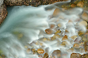 Maligne River in Maligne Canyon<br /> Jasper National Park<br /> Alberta<br /> Canada