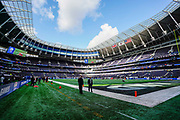 Fans begin to enter Tottenham Stadium during the International Series match between Oakland Raiders and Chicago Bears at Tottenham Hotspur Stadium, London, United Kingdom on 6 October 2019.