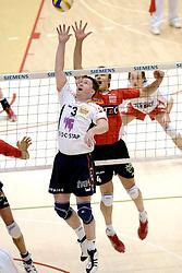 05-03-2006 VOLLEYBAL: FINAL 4 HEREN:  ORION - ORTEC NESSELANDE: ROTTERDAM<br /> In een mooie finale was Nesselande in 3 sets te sterk voor Orion / Frank Denkers<br /> Copyrights2006-WWW.FOTOHOOGENDOORN.NL