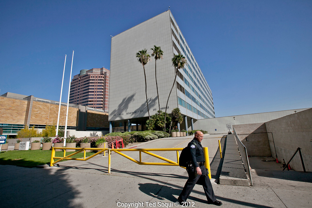 LAPD headquarters, Parker Center, which is now closed, 20 years later.
