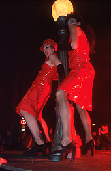 IRELAND DUBLIN 17MAR00 - Two drag queens ham it up on a podium prior to St. Patrick's Day celebrations in Dublin...jre/Photo by Jiri Rezac..© Jiri Rezac 2000..Contact: +44 (0) 7050 110 417.Mobile:  +44 (0) 7801 337 683.Office:  +44 (0) 20 8968 9635..Email:   jiri@jirirezac.com.Web:     www.jirirezac.com..© All images Jiri Rezac 2000 - All rights reserved.