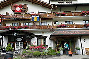 The comfortable Hotel Alpha Soleil, in Kandersteg, canton of Bern, Switzerland, the Alps, Europe.