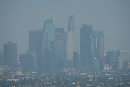 Clouds blanket the Los Angeles skyline on Wednesday, August 30, 2017, in Los Angeles.  ``The combination of strong high pressure and weak onshore flow will continue to produce dangerously hot temperatures across the region through at least the end of the week and possibly into the labor day weekend,'' according to a National Weather Service statement, which predicted more heat records a day after a few were set.(Photo by Ringo Chiu)<br /> <br /> Usage Notes: This content is intended for editorial use only. For other uses, additional clearances may be required.