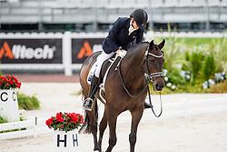 Chelsea Higgins, (AUS), Holstein Park Comedian - Team Competition Grade III Para Dressage - Alltech FEI World Equestrian Games™ 2014 - Normandy, France.<br /> © Hippo Foto Team - Jon Stroud <br /> 25/06/14