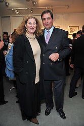 PRINCESS KATARINA OF YUGOSLAVIA and CARLO DE CHAIR at an exhibition of photographs and art works inspired by the story of Christian The Lion in aid of the George Adamson Wildlife Preservation Trust and the Born Free Foundation held at the Queen's Elm Gallery, 241 Fulham Road, London on 15th October 2009.