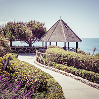 Laguna Beach California gazebo picture. Laguna Beach is a beach community along the Pacific Ocean in Orange County Southern California.