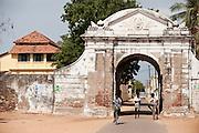 Entrance to the old Danish colony of Tranqubar (Tarangambadi) on the East Coast of South India.