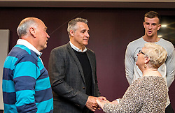 Bristol City Assistant Manager John Pemberton and Aden Flint of Bristol City chat with fans - Mandatory byline: Robbie Stephenson/JMP - 26/04/2016 - FOOTBALL - Ashton Gate - Bristol, England - Players Q&A
