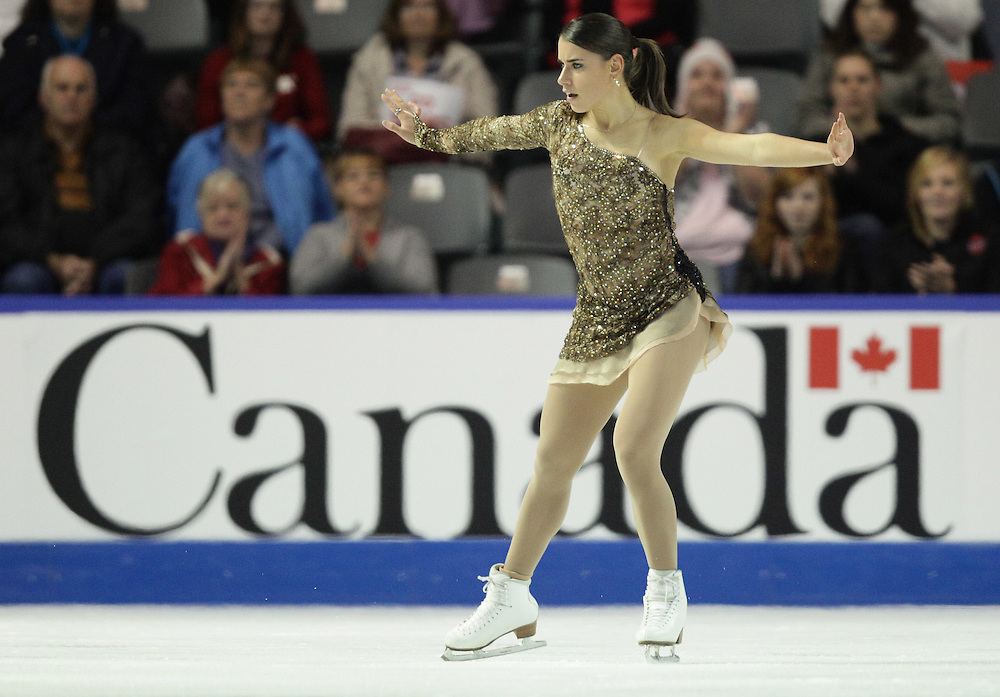 GR2019 --20101029- Kingston, Ontario,Canada -- Cynthia Phaneuf of Canada skates her short program a Skate Canada International in Kingston, Ontario, October 29, 2010.<br /> AFP PHOTO/Geoff Robins