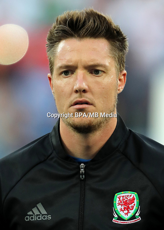 Uefa - World Cup Fifa Russia 2018 Qualifier / <br /> Wales National Team - Preview Set - <br /> Wayne Hennessey