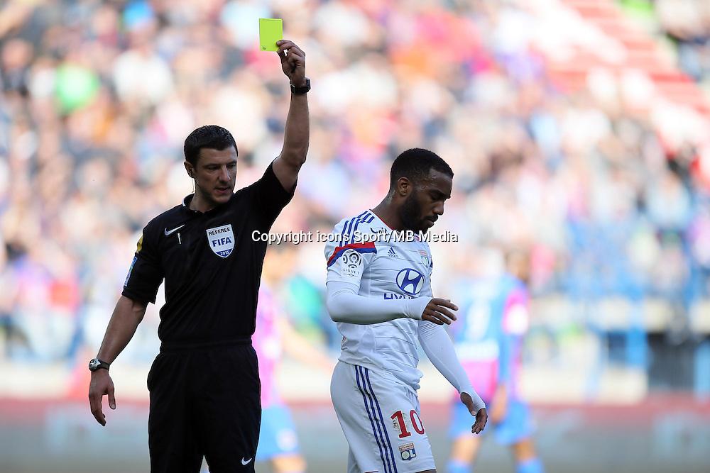 Alexandre LACAZETTE / Nicolas RAINVILLE - 09.05.2015 -  Caen / Lyon  - 36eme journee de Ligue 1<br />Photo : Vincent Michel / Icon Sport