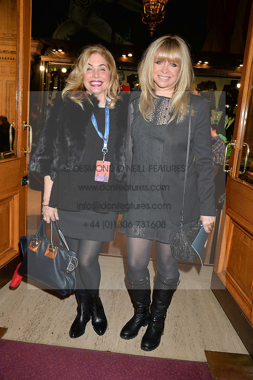 Left to right, BRIX SMITH and JO WOOD at the opening night of Cirque du Soleil's award-winning production of Quidam at the Royal Albert Hall, London on 7th January 2014.