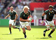 Paris, FRANCE - 9th September 2007, Schalk Burger during the Rugby World Cup, pool A, match between South Africa and Samoa held at Parc Des Princes Stadium in Paris, France...Photo Ron Gaunt/Sportzpics