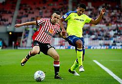 George Honeyman of Sunderland and Curtis Davies of Derby County - Mandatory by-line: Matt McNulty/JMP - 04/08/2017 - FOOTBALL - Stadium of Light - Sunderland, England - Sunderland v Derby County - Sky Bet Championship