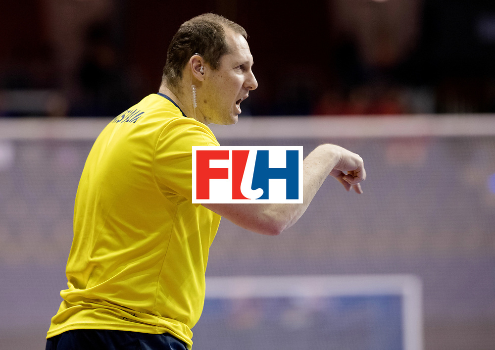 BERLIN - Indoor Hockey World Cup<br /> Men: Germany - Australia<br /> foto: Steve Miller.<br /> WORLDSPORTPICS COPYRIGHT FRANK UIJLENBROEK