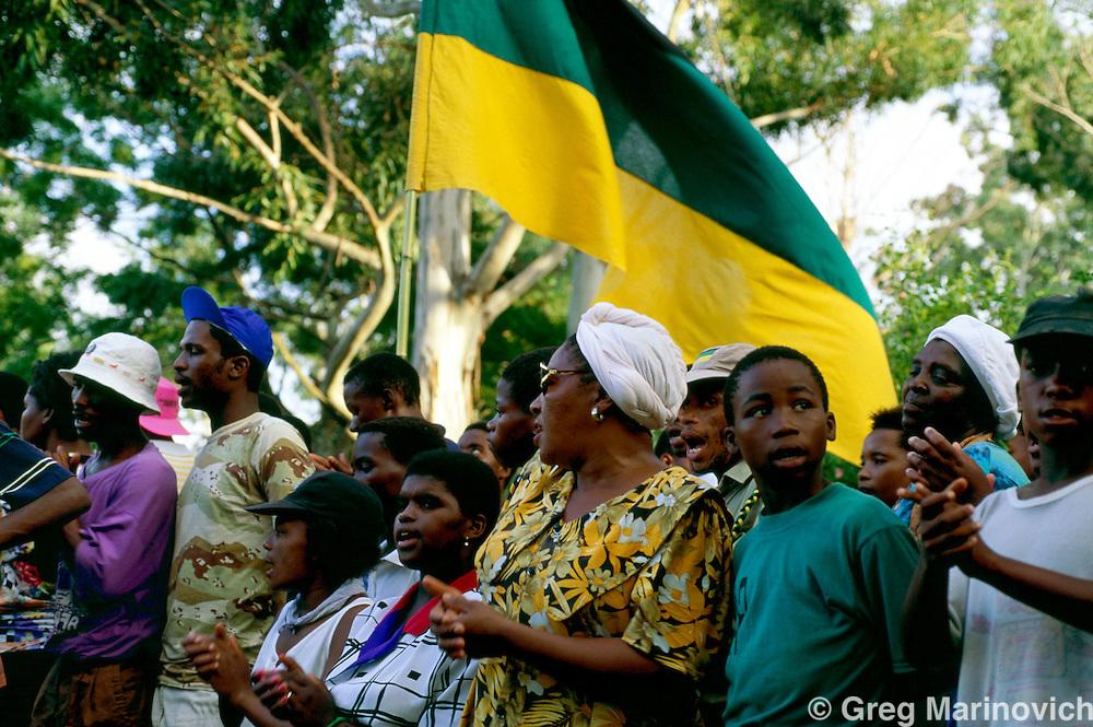 ANC supporter, KwaZulu Natal., South Africa. 1994