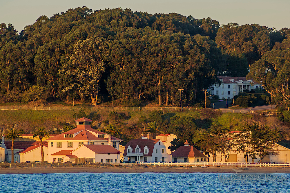 Historic Coast Guard Station near Chrissy Field in the Presidio of San Francisco, along San Francisco Bay, California