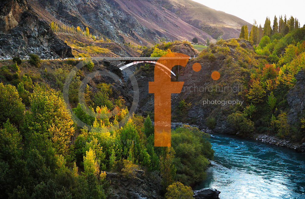 Richard Furhoff 100101_NewZealand_DSC4245.tif .Bridge over Kawarou Gorge, New Zealand...