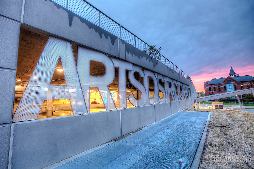 The Arts District Garage at the Kauffman Center, Kansas City, Missouri.