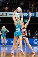 SYDNEY, NSW - JUNE 22: Joanna Weston of the Vixens passes the ball during the round 9 Super Netball match between the Giants and the Vixens at Quaycentre on June 22, 2019 in Sydney, Australia. (Photo by Speed Media/Icon Sportswire)