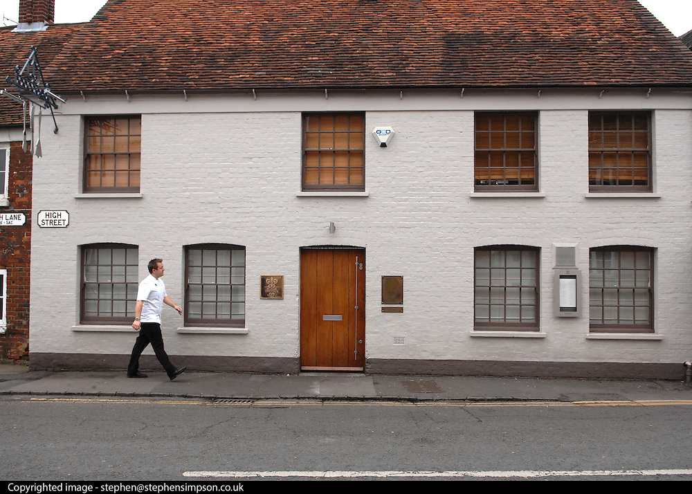 © Licensed to London News Pictures. 20/11/2012. London, FILE PICTURE DATED 12/03/09. Celebrity Chef Heston Blumenthal's Fat Duck Restaurant in Bray, Berkshire. Today 20/11/201 two chefs from the restaurant have been killed in a traffic accident in Hong Kong. Photo credit : Stephen Simpson/LNP