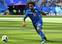 June 22, 2018 - SãO Petersburgo, Rússia - SÃO PETERSBURGO, MO - 22.06.2018: BRAZIL VS. COSTA RICA - Russia, St. Petersburg, on June 22, 2018. 2018 FIFA World Cup Russia. The match of the group stage of the FIFA World Cup - 2018 between national teams of Brazil and Costa Rica. In the picture: the player of Brazil Marcelo. (Credit Image: © Andrey Pronin/Fotoarena via ZUMA Press)