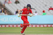 Lancashire Thunders Amy Satterthwaite during the Women's Cricket Super League match between Lancashire Thunder and Surrey Stars at the Emirates, Old Trafford, Manchester, United Kingdom on 7 August 2018.