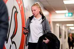Jess Woolley of Bristol City Women arrives at Stoke Gifford Stadium prior to kick off - Mandatory by-line: Ryan Hiscott/JMP - 17/02/2020 - FOOTBALL - Stoke Gifford Stadium - Bristol, England - Bristol City Women v Everton Women - Women's FA Cup fifth round