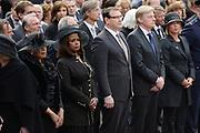 Op de Dam in Amsterdam is met twee minuten stilte om klokslag 20.00 uur de oorlogsslachtoffers herdacht die sinds het begin van de Tweede Wereldoorlog zijn omgekomen.<br /> <br /> On the Dam in Amsterdam are war victims remembered who died since the beginning of World War II  with two minutes of silence at the stroke of 20:00 <br /> <br /> OP de foto / On the photo: minister van Defensie Jeanine Hennis-Plasschaert (R)