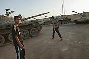 Tank depot in Zintan.