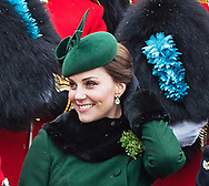 17.03.2018,Hounslow; UK: KATE MIDDLETON &amp; PRINCE WILLIAM<br /> attend the 1st Battalion Irish Guards&rsquo; St. Patrick's Day Parade at Cavalry Barracks, Hounslow <br /> Mandatory Credit Photo: NEWSPIX INTERNATIONAL<br /> <br /> IMMEDIATE CONFIRMATION OF USAGE REQUIRED:<br /> Newspix International, 31 Chinnery Hill, Bishop's Stortford, ENGLAND CM23 3PS<br /> Tel:+441279 324672  ; Fax: +441279656877<br /> Mobile:  07775681153<br /> e-mail: info@newspixinternational.co.uk<br /> *All fees payable to Newspix International*