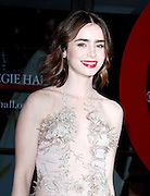 Lily Collins attends the 23rd Annual Glamour Magazine Women of the Year Awards at Carnegie Hall in New York City, New York on November 11, 2013.