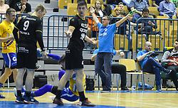 Zoran Jovicic of RK Velenje reacts during handball match between RK Celje Pivovarna Lasko and RK Gorenje Velenje in last round of Liga NLB 2018/19, on May 31st, 2019, in Arena Zlatorog, Celje, Slovenia. RK Celje PL became Slovenian National Champion in year 2019. Photo by Milos Vujinovic / Sportida
