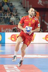 Dejan Manaskov of Macedonia during handball match between National teams of Macedonia and Czech Republic on Day 6 in Main Round of Men's EHF EURO 2018, on January 23, 2018 in Arena Varazdin, Varazdin, Croatia. Photo by Mario Horvat / Sportida