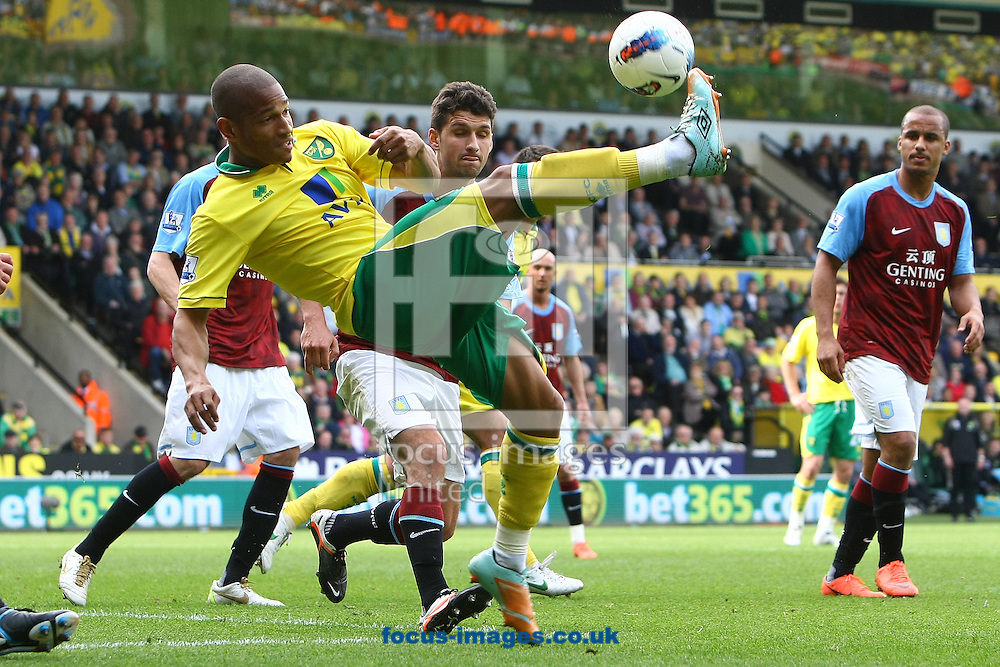 Picture by Paul Chesterton/Focus Images Ltd.  07904 640267.13/05/12.Simeon Jackson of Norwich in action during the Barclays Premier League match at Carrow Road Stadium, Norwich.