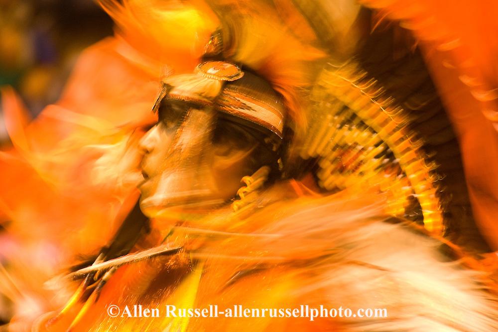 Fancy Dancer, American Indian Council Powwow, Montana State University, Bozeman, Montana
